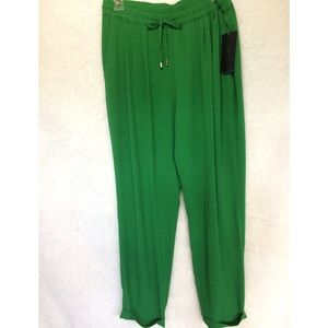 Zara Green Crepe Pants